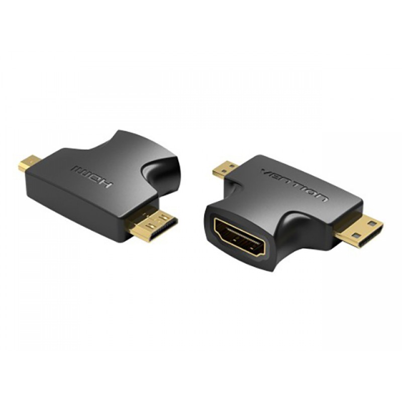 Аксессуар Vention HDMI 19F - Mini HDMI + Micro HDMI AGFB0
