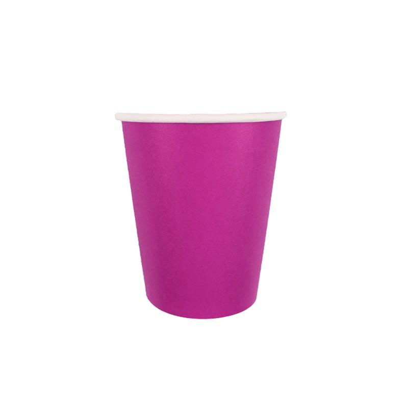 Набор бумажных стаканов Пати Бум 250ml 6шт Hot Pink 6056674