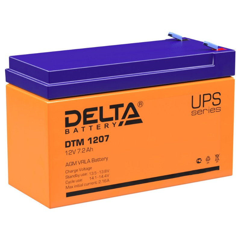 Аккумулятор для ИБП Аккумулятор Delta DTM 1207 12V 7Ah