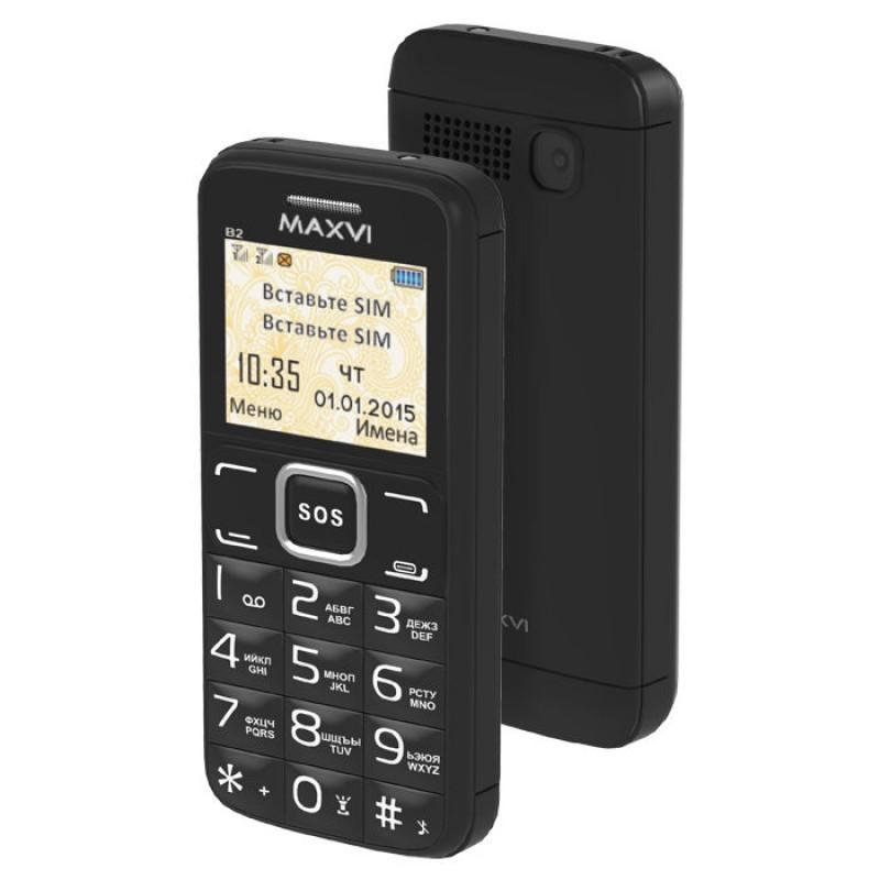 Сотовый телефон Maxvi B2 Black