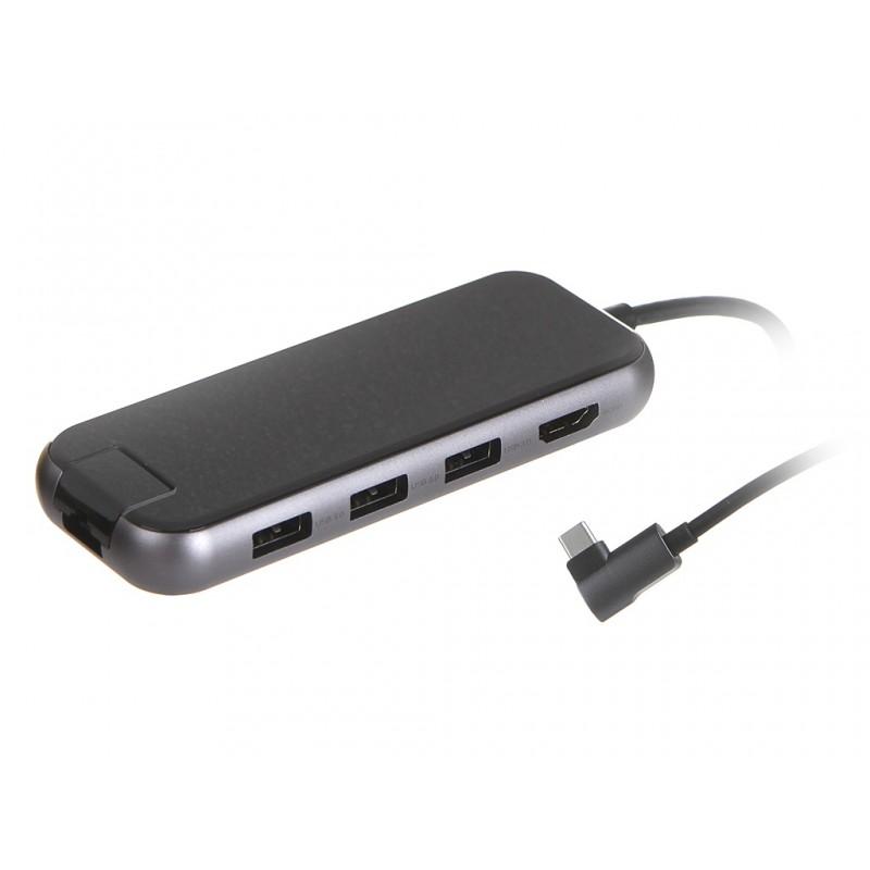Хаб USB Baseus Multi-functional Type-C to 3xUSB 3.0 / HD4K / RJ45 P D Deep Gray CAHUB-DZ0G