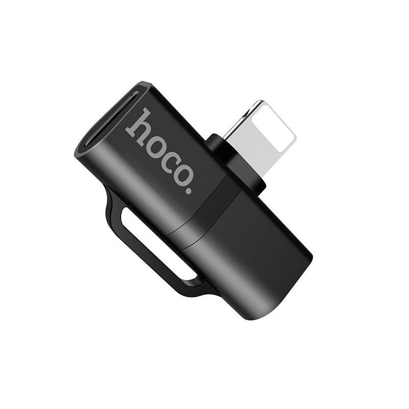 Аксессуар Hoco LS20 Lightning Digital Audio Converter Black