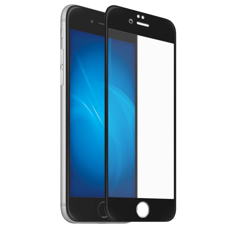 Закаленное стекло DF для iPhone SE 2020/7/8 3D Full Screen Full Glue Black iColor-23