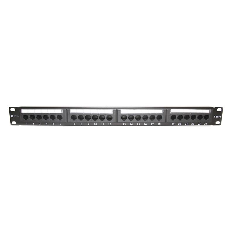 Коммутационная панель Патч-панель 5bites PPU55-07 UTP / 5E / 24P / Krone / 110 / Dual Idc / 1U / 19